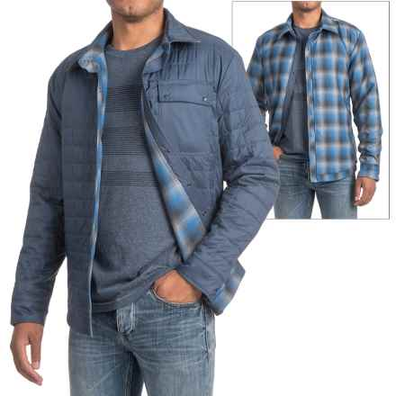 Icebreaker Helix Shirt Jacket - Reversible, Insulated (For Men) in Admiral/Fossil/Pelorus - Closeouts