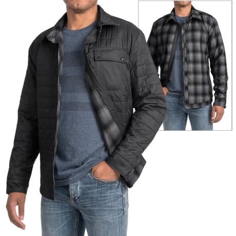 Icebreaker Helix Shirt Jacket - Reversible, Insulated (For Men) in Black/Metro Heather/Stealth