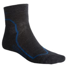 Icebreaker Hike + Lite Mini Socks - Merino Wool, Quarter-Crew (For Men) in Jet/Black/Cadet - 2nds
