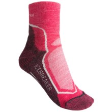 Icebreaker Hike + Lite Mini Socks - Merino Wool, Quarter-Crew (For Women) in Cherub/Bark/Bone - 2nds