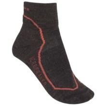 Icebreaker Hike + Lite Mini Socks - Merino Wool, Quarter-Crew (For Women) in Earthen Heather/Azalea/Cognac - 2nds