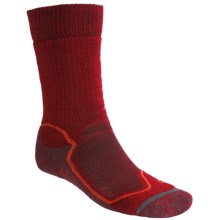 Icebreaker Hike + Mid Crew Socks - Merino Wool (For Men) in Mars/Cajun - 2nds