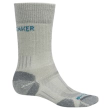 Icebreaker Hike Basic Heavy Socks - Merino Wool, Crew (For Women) in Twister Heather/Cruise - Closeouts