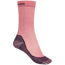 Icebreaker Hike Basic Medium Socks - Merino Wool, Crew (For Women) in Cherub/Lotus - Closeouts