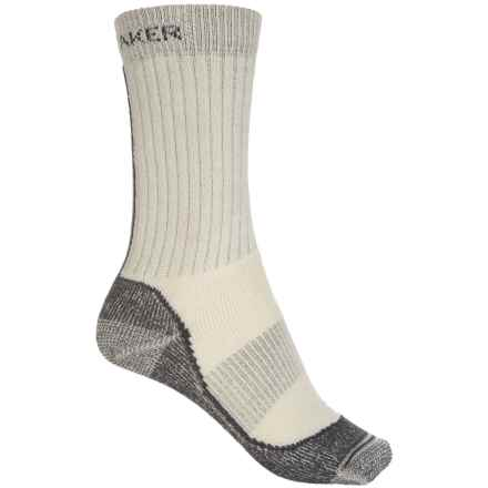 Icebreaker Hike Basic Medium Socks - Merino Wool, Crew (For Women) in Silver/Black/Oil - Closeouts