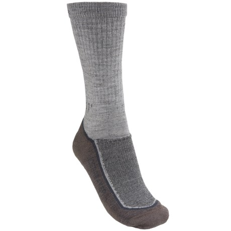 Icebreaker Hike Light Crew Sock - Merino Wool, Lightweight (For Women) in Jet Heather/Nickel/Black