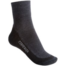 Icebreaker Hike Lite Mini Socks - Merino Wool, Quarter-Crew (For Women) in Jet/Nickel/Black - 2nds