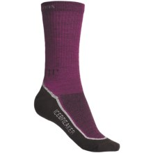 Icebreaker Hike Lite Socks - Merino Wool, 2-Pack, Crew (For Women) in Cranberry/Silver/Java - 2nds
