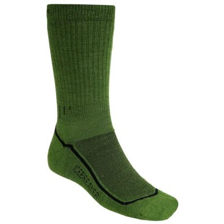 Icebreaker Hike Lite Socks - Merino Wool, Crew (For Men) in Grass Wool
