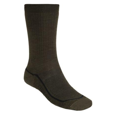 Icebreaker Hike Lite Socks - Merino Wool, Crew (For Men) in Ivy/Olive Drab