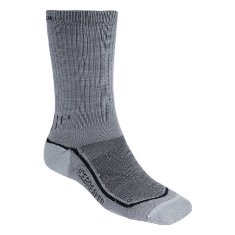 Icebreaker Hike Lite Socks - Merino Wool, Crew (For Men) in Ivy/Olive Drab