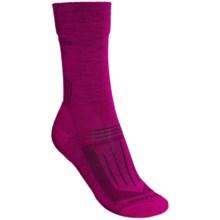 Icebreaker Hike Lite Socks - Merino Wool, Crew (For Women) in Cranberry - Closeouts