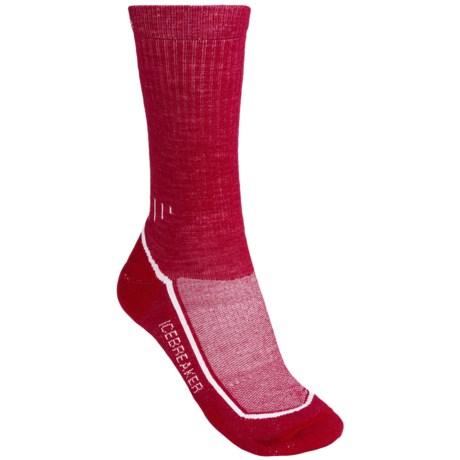 Icebreaker Hike Lite Socks - Merino Wool, Midweight, Crew (For Women) in Red