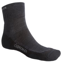 Icebreaker Hike Medium Cushion Mini Socks - Merino Wool, Quarter-Crew (For Men) in Jet/Nickel/Black - 2nds