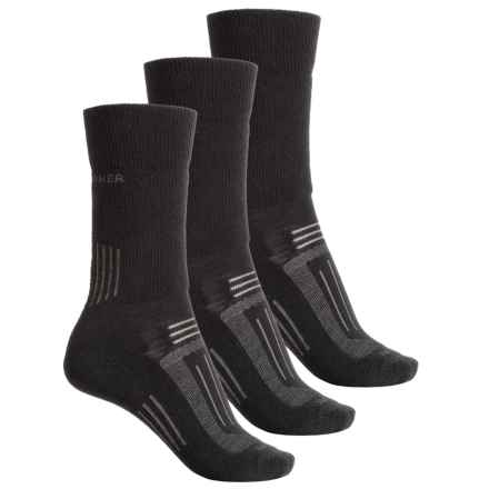 Icebreaker Hike Medium Socks - 3-Pack, Merino Wool, Crew (For Women) in Black - Closeouts