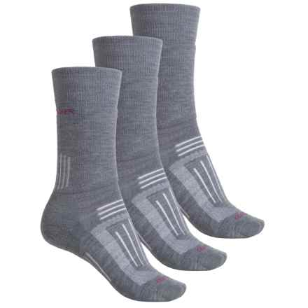 Icebreaker Hike Medium Socks - 3-Pack, Merino Wool, Crew (For Women) in Twister Heather - Closeouts