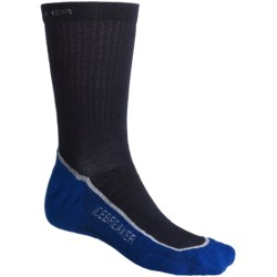 Icebreaker Hike+ Lite Crew Socks - Merino Wool (For Men and Women) in Admiral/Silver/Cobalt
