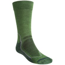 Icebreaker Hike+ Lite Crew Socks - Merino Wool (For Men) in Grass/Twister/Nova - 2nds