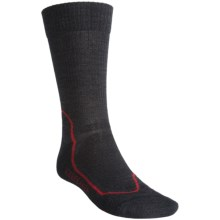 Icebreaker Hike+ Lite Crew Socks - Merino Wool (For Men) in Jet/Black/Red - 2nds