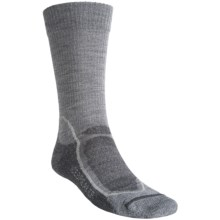 Icebreaker Hike+ Lite Crew Socks - Merino Wool (For Men) in Twister/Silver/Oil - 2nds