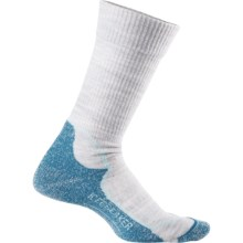 Icebreaker Hike+ Lite Socks - Merino Wool, Crew (For Women) in Blizzard Heather/Teardrop/Cruise - Closeouts