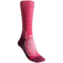 Icebreaker Hike+ Lite Socks - Merino Wool, Crew (For Women) in Cherub/Silver/Bordeaux - Closeouts