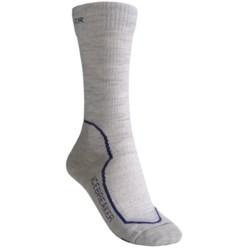 Icebreaker Hike+ Medium Cushion Crew Socks - Merino Wool (For Women) in Bright Pink/Purple Heather