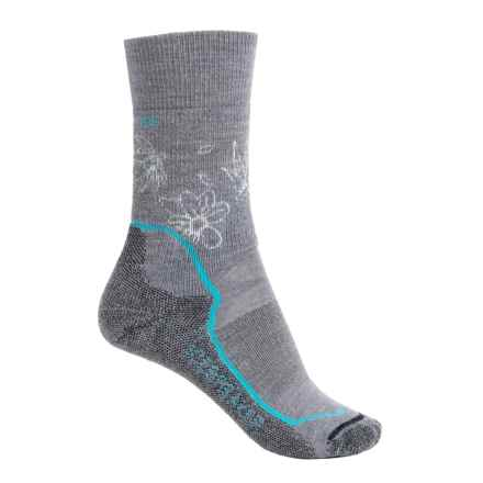 Icebreaker Hike+ Socks - Merino Wool, Crew (For Women) in Twister Heather/Glacier/Jet Heather - 2nds