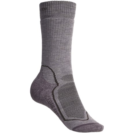 Icebreaker Hike+ Socks - Merino Wool, Midweight, Crew (For Women) in Grey Purple Heather/Purple Heather
