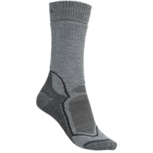 Icebreaker Hike+ Socks - Merino Wool, Midweight, Crew (For Women) in Light Grey/Grey Heather - 2nds