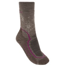 Icebreaker Hike+ Socks - Merino Wool, Midweight, Crew (For Women) in Trail Heather/Cherub/Bark - 2nds
