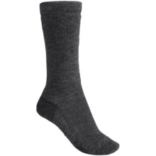 Icebreaker Hike Socks - Merino Wool, Mid Crew (For Women) in Black Heather - 2nds