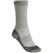 Icebreaker Hike Socks - Merino Wool, Mid Crew (For Women) in Dark Grey Heather/Black Heather - 2nds