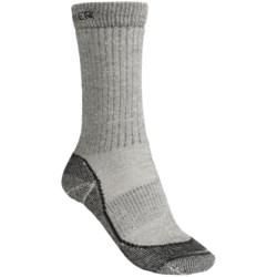 Icebreaker Hike Socks - Merino Wool, Mid Crew (For Women) in Dark Grey Heather/Black Heather