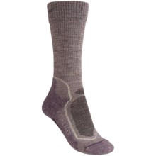 Icebreaker Hike Socks - Merino Wool, Mid Crew (For Women) in Light Purple Heather/Purple - 2nds