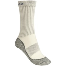 Icebreaker Hike Socks - Merino Wool, Mid Crew (For Women) in Light Sage/Grey/Green Stripes - 2nds