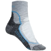 Icebreaker Hike Socks - Merino Wool, Quarter-Crew (For Women) in Grey Heather/Dark Grey Heather - 2nds