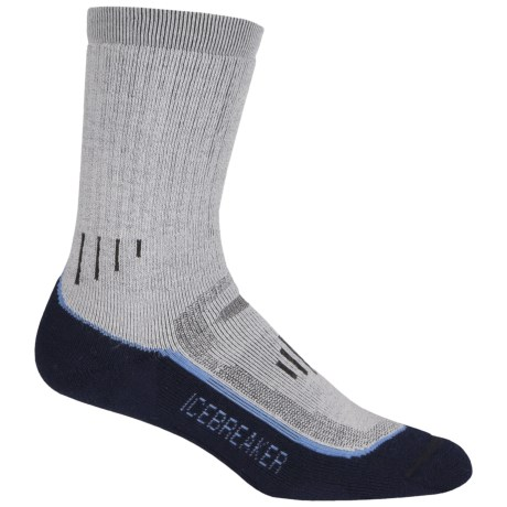 Icebreaker Hike Trek Socks - Merino Wool, Crew (For Women) in Silver/Nordic/Ink