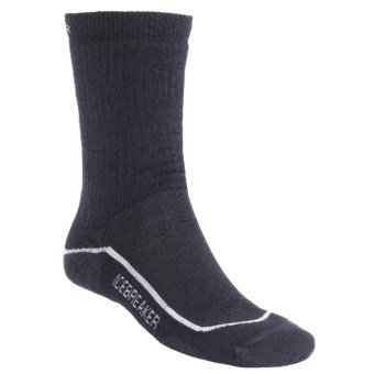 Icebreaker Hiking Socks - Merino Wool, Medium Cushion (For Men and Women) in Ink/Silver/Ink