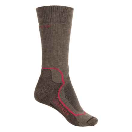 Icebreaker Hunt & Fish Socks - Merino Wool, Mid Calf (For Women) in Trail Heather/Cherub/Bark - Closeouts