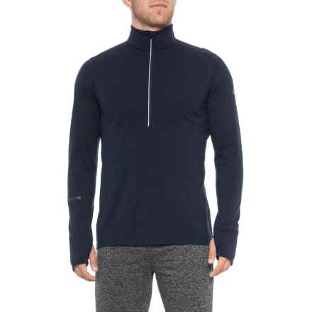 Icebreaker Incline Zip Neck Base Layer Top - Merino Wool, Long Sleeve (For Men) in Midnight Navy - Closeouts