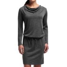 Icebreaker Iris Dress - Merino Wool, UPF 30+, Long Sleeve (For Women) in Jet Heather - Closeouts