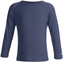 Icebreaker Junior Bodyfit 200 Oasis Base Layer Top - Merino Wool, L/S (For Toddler and Kids) in Ash - Closeouts