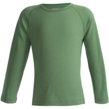 Icebreaker Junior Bodyfit 200 Oasis Base Layer Top - Merino Wool, L/S (For Toddler and Kids) in Pea - Closeouts