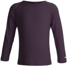 Icebreaker Junior Bodyfit 200 Oasis Base Layer Top - Merino Wool, L/S (For Toddler and Kids) in Pinot - Closeouts