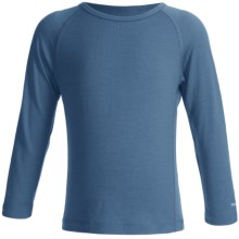 Icebreaker Junior Bodyfit 200 Oasis Base Layer Top - Merino Wool, L/S (For Toddler and Kids) in Thunder - Closeouts