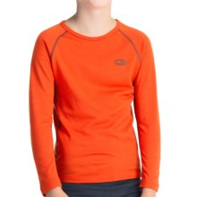 Icebreaker Junior Bodyfit 200 Oasis Base Layer Top - UPF 30+, Merino Wool, Long Sleeve (For Toddlers) in Heat - Closeouts
