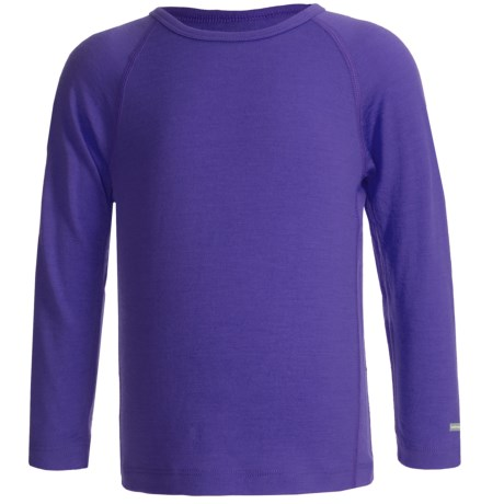 Icebreaker Junior Bodyfit 200 Oasis Base Layer Top - UPF 30+, Merino Wool, Long Sleeve (For Toddlers) in Mystic