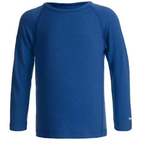 Icebreaker Junior Bodyfit 200 Oasis Base Layer Top - UPF 30+, Merino Wool, Long Sleeve (For Toddlers) in Bloom