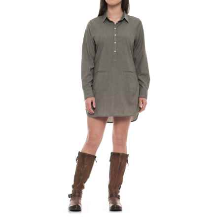 Icebreaker Kala Dress - Merino Wool, Long Sleeve (For Women) in Kona/Snow - Closeouts